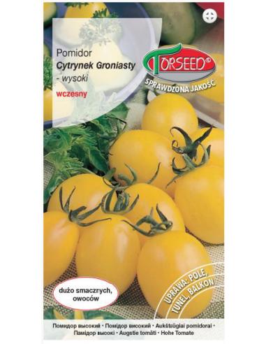 Pomidor wysoki Cytrynek Groniasty -...